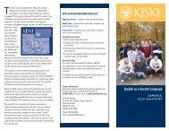 English as a Second Language - The Kiski School