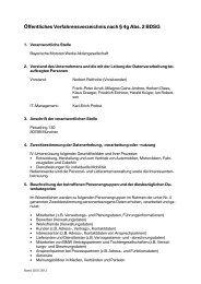 Verfahrensverzeichnis Version 2012 07 01