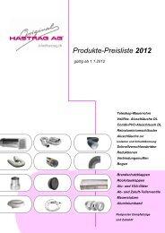 Produkte-Preisliste 2012 - Hastrag AG