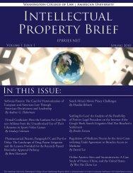 By Brett Havranek - American University Intellectual Property Brief