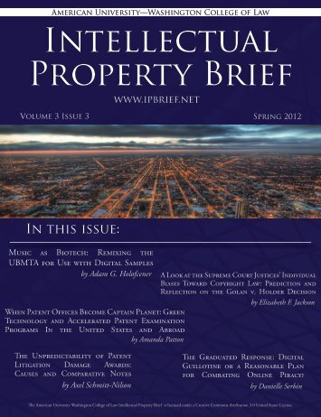 cover - American University Intellectual Property Brief