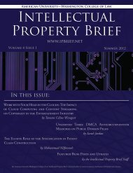 Full PDF - American University Intellectual Property Brief