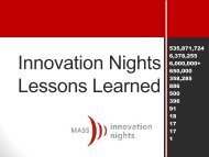 Innovation Nights Lessons Learned