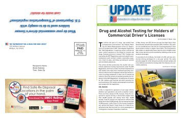 Drug and Alcohol Testing for Holders of Commercial Driver's Licenses