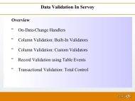 Data Validation In Servoy
