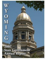 Wyoming State Government 2007 Annual Report - FTP Directory ...
