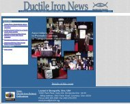 Issue No. 1, 2003 - Ductile Iron Society