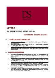 lettre dinfo droit social novembre decembre 2008.pub - DS Avocats
