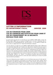 Loi de FINANCE 2009.pub - DS Avocats