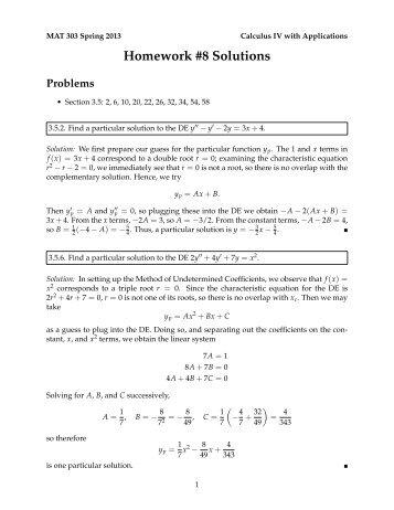 Homework #8 Solutions - Eric Malm