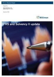IFRS and Solvency II update - Milliman