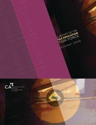 Report of the Tax Education Task Force - CICA Conferences ...