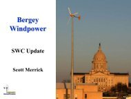 Overview of Bergey Windpower Co. - Small Wind Conference