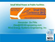 Wind Energy Systems Engineering, Inc. - Small Wind Conference