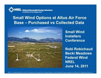 Small Wind Options at Altus Air Force Base – Purchased vs ...