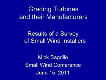 Economic Analysis of Renewable Energy Systems - Small Wind ...