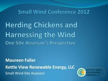 CASE STUDY #3 - Small Wind Conference