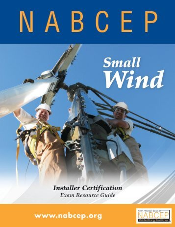 Small Wind Installer Certification Exam Resource Guide