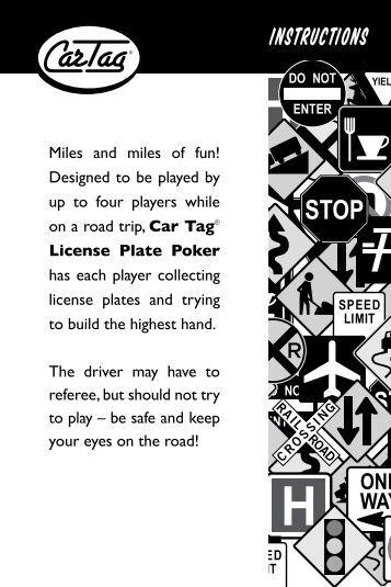 Poker instructions pdf