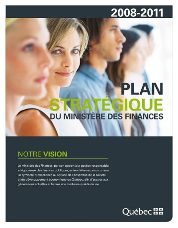 Plan stratégique du ministère de Finances / 2008-2011