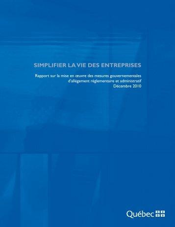 Décembre 2010 - Finances - Gouvernement du Québec