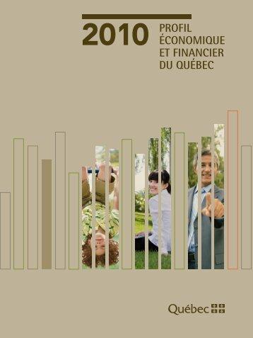 Profil économique et financier du Québec - Édition 2010 - Finances