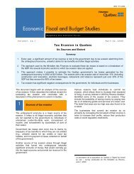 Tax Evasion in Quebec - Finances