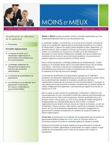 Volume 8, numéro 1 – Mars 2012 - Finances - Gouvernement du ...
