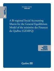 English - Finances - Gouvernement du Québec