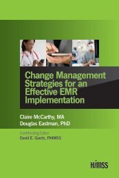 Change Management Strategies for an Effective EMR ... - HiMSS
