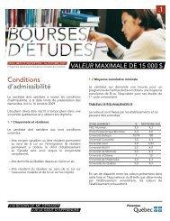 Bourses d'études du ministère des Finances - 1