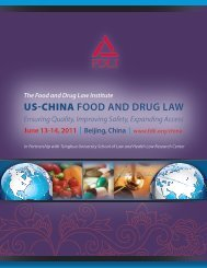English - Food and Drug Law Institute