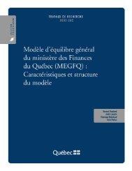 (MEGFQ) : caractéristiques et structure du modèle - Finances