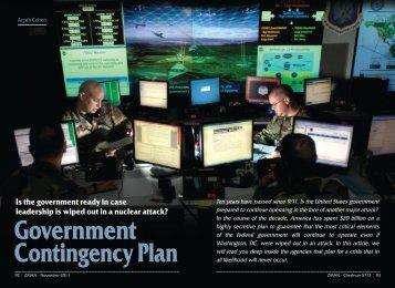 Government Contingency Plan - ZMAN Magazine
