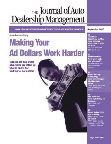 THE Journal of Auto Dealership Management - DealersEdge