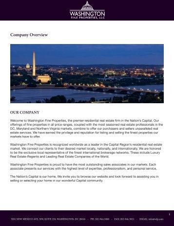 Printable Page - Washington Fine Properties
