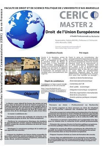 Droit de l'Union Européenne - CERIC - Univ-cezanne.fr