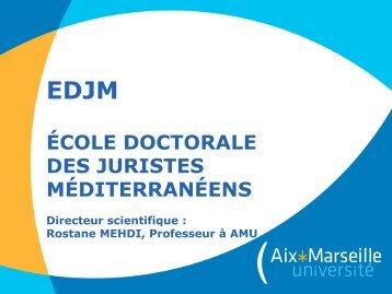 l'Ecole doctorale des juristes méditerranéens. - CERIC