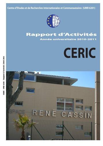 (UMR 6201) Rapport d'Activités - CERIC - Univ-cezanne.fr