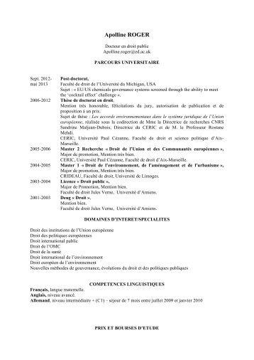 CV AR CERIC fr