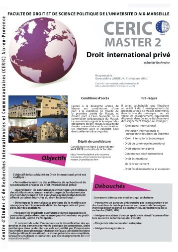 Droit international privé - CERIC - Univ-cezanne.fr