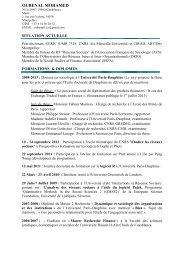 OUBENAL MOHAMED CV - CERIC