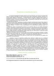 Présentation et modalités d'inscription 2012/2013 - CERIC