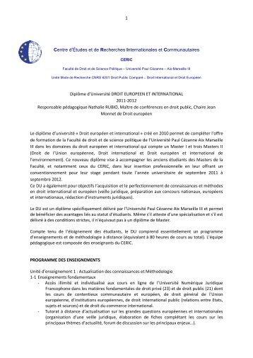 1 Centre d'Études et de Recherches Internationales et ... - CERIC