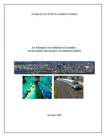 Le transport en commun au Canada : un inventaire ... - CUTA ACTU
