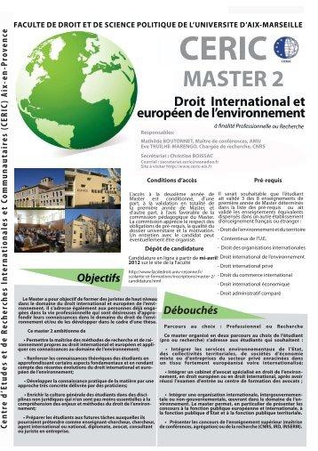 Droit international et européen de l'environnement - CERIC - Univ ...