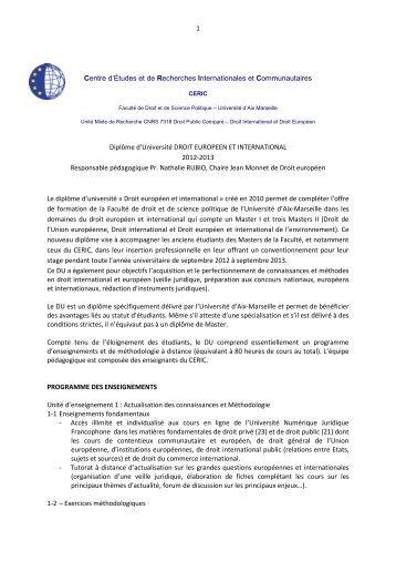 Présentation et modalités d'inscription - CERIC