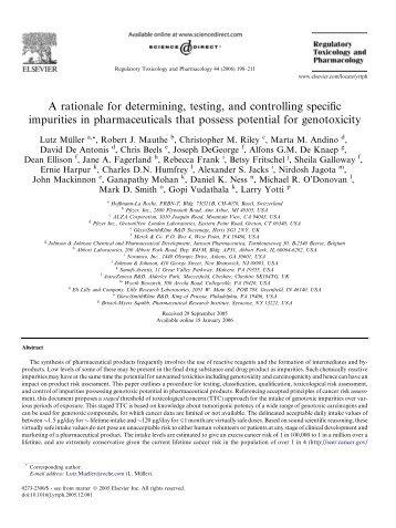 Regulatory Toxicology and Pharmacology 44 - TRIPHASE Pharma ...