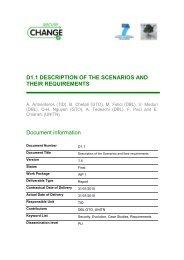Description of the Scenarios and their Requirements - SecureChange