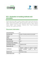 Evaluation of existing methods and principles in MBT - SecureChange